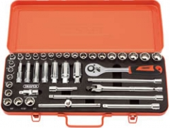 "Retro edition 40 Piece 3/8"" Sq. Dr. Socket Set"