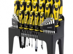 44 Piece Screwdriver Hex Key and Bit Set -Yellow
