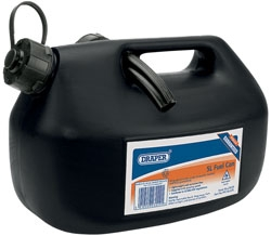 5LTR BLACK PLASTIC FUEL CAN