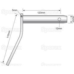 CRANKED PIN 25 X 123MM
